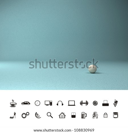 Large concrete wall. Texture. Background. Image of colored concrete wall and floor - stock photo