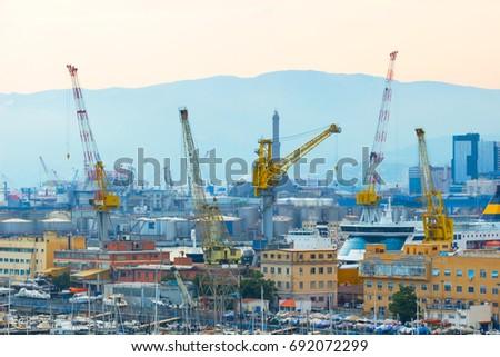 medium bridge construction site auto cranes on construction site stock photo 385494307 shutterstock