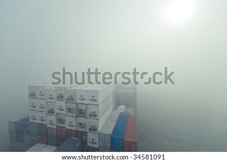 Sailing Boat In Fog Stock Images Royalty Free Images