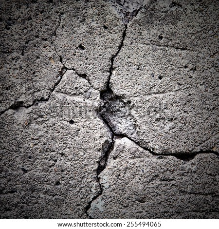 Large cracked Stone Wall Background - stock photo