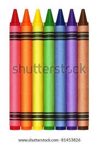 Large Crayons - stock photo