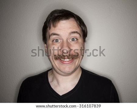 Large creepy smile  - stock photo