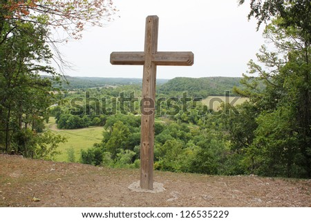 Large cross on a hill