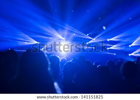 large crowd of people at a festival or party celebrating a great event - stock photo