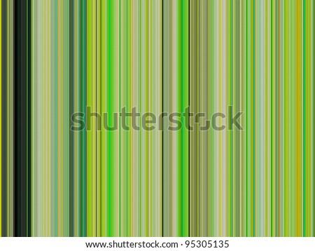 large 3d render of shaded colored tubes in different green - stock photo