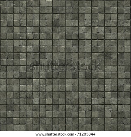 large 3d render of speckled gray smooth stone mosaic wall floor