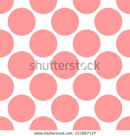 large dots in repeating seamless background pattern - stock photo