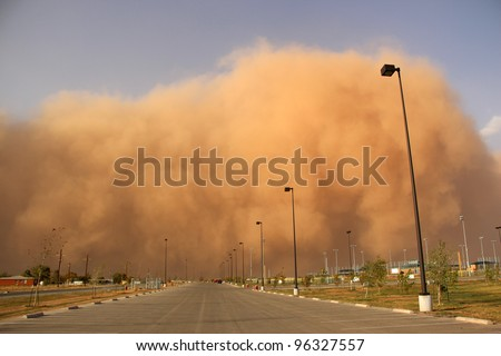 Large Dust Storm Blowing In - stock photo