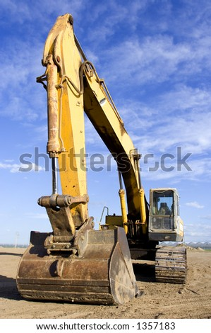 Large earth mover - stock photo