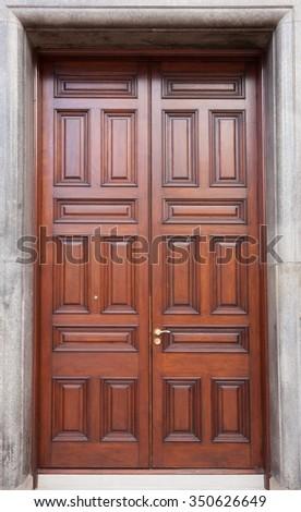 Large elegance door - stock photo