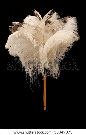 Large feather duster made from natural ostrich feathers