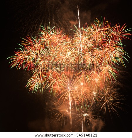 Large Fireworks Display event. - stock photo