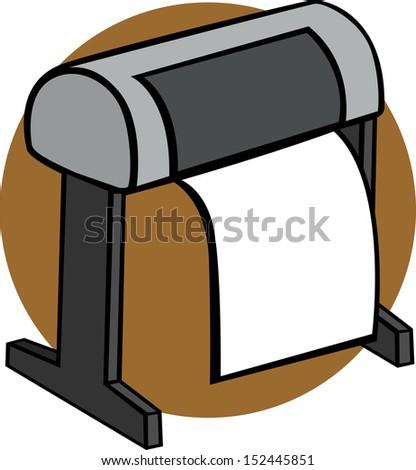 large format printer - stock photo
