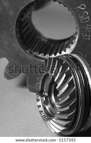 large gears and cog-wheel