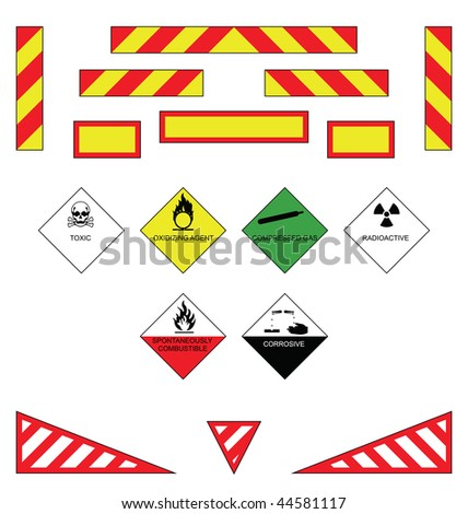 Large goods vehicle rear markings and warning plates - stock photo