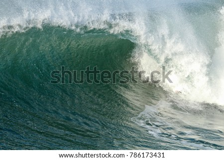 Large green wave