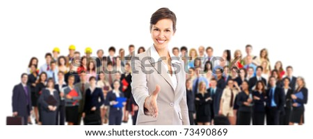 Large group of business people. Business team. - stock photo
