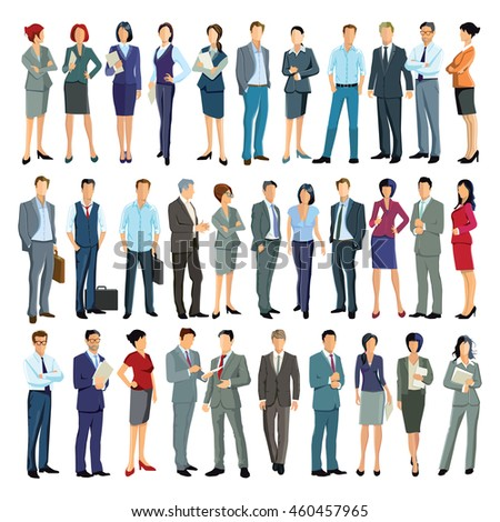 large group of business people, 3D illustration