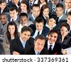 Large group of business people. Over white background - stock photo