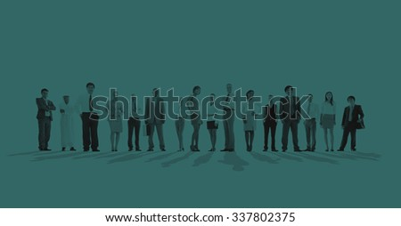 Large group of Business people Standing Concept - stock photo