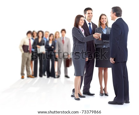 Large group of business people. Teamwork. - stock photo