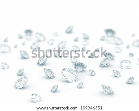 Large group of diamonds - stock photo