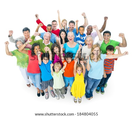 Large Group of Multi-Ethnic Diverse People - stock photo