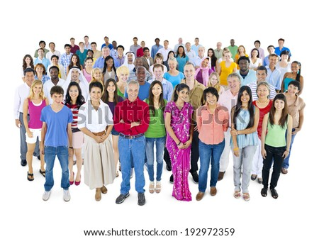 Large group of Multi-ethnic people  - stock photo
