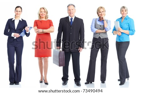 Large group of smiling business people. Teamwork. - stock photo