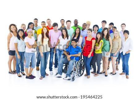 Large Group of Student - stock photo