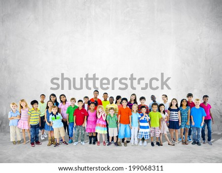 Large Group of Student Standing - stock photo