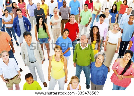 Large Group People Working Team Diverse Ethnic Concept - stock photo