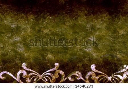 large grunge floral background with high details - stock photo
