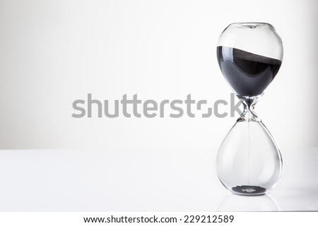 large hour glass sand timer - stock photo