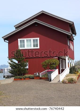 Large house with a view, Astoria Oregon. - stock photo