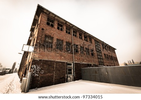 Large industrial building - stock photo