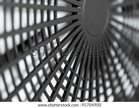 Large industrial fan close-up - abstract background - stock photo