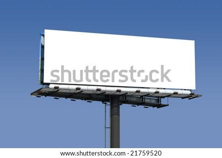 Large isolated billboard - stock photo