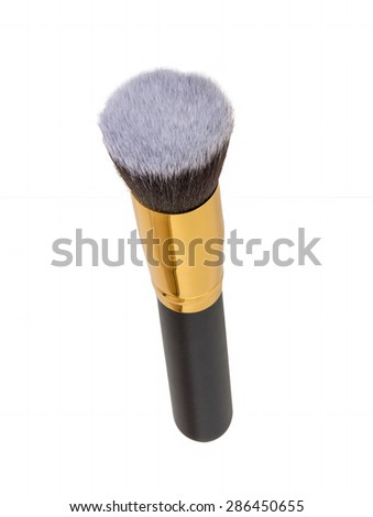 Large make-up brushes for appling foundation - stock photo