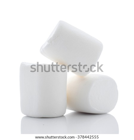 Large Marshmallows on White