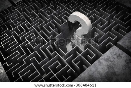 large maze - stock photo