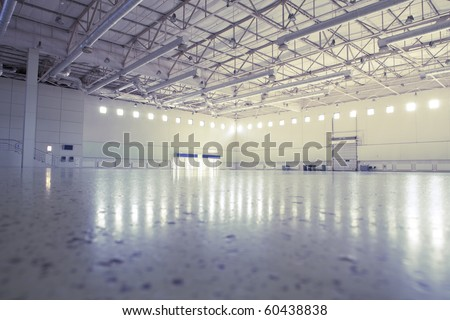 Large modern empty industrial premises
