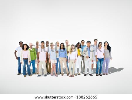 Large Multi Ethnic Group  - stock photo