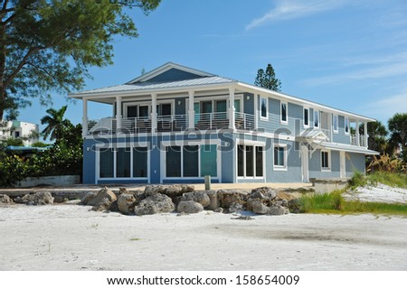 Large New Beach House - stock photo