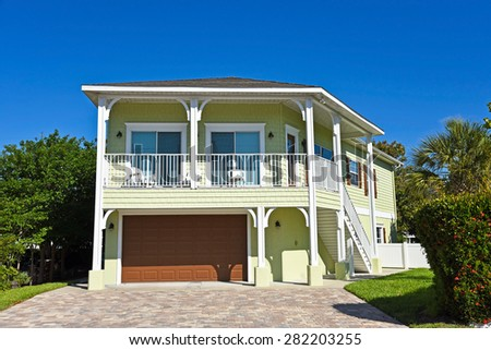 Large New Beach House for Sale or Vacation Rental - stock photo