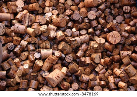 Large number of used wine corks. Good for background. - stock photo