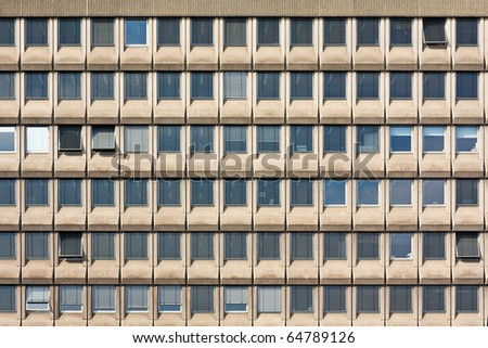 Large Office Windows Background in Brussels - stock photo