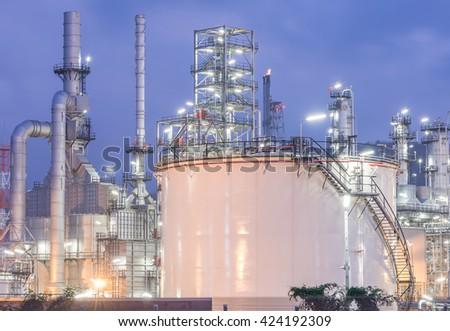 large oil fuel tank. - stock photo