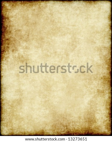 large old paper or parchment background texture - stock photo
