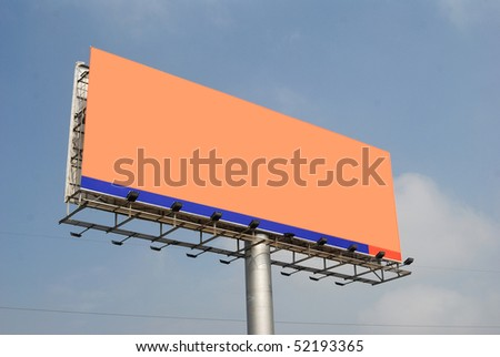 Large outdoor billboard look up close - stock photo